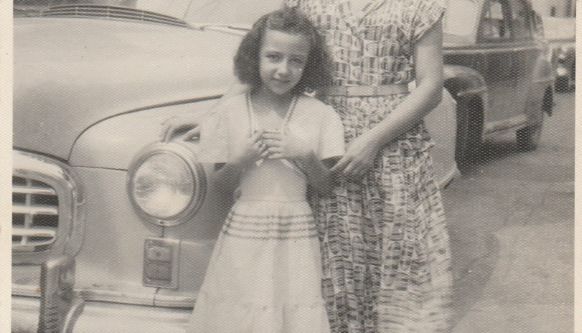 Ida Cesana and her daughter Elsa Yoder circa 1950 in Venezuela
